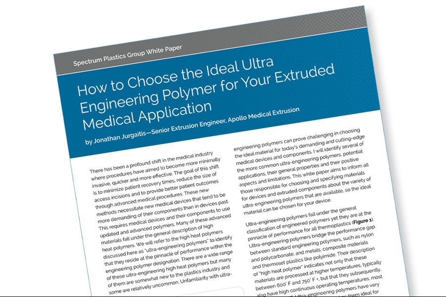 Download our white paper on choosing the ideal ultra polymer