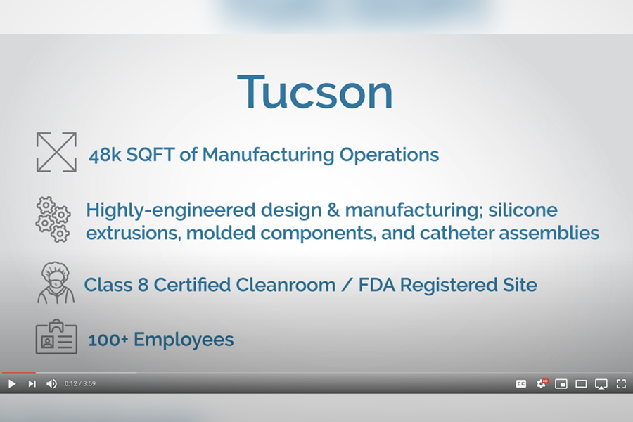 Watch this virtual tour of Spectrum Plastics Group's Tucson facility