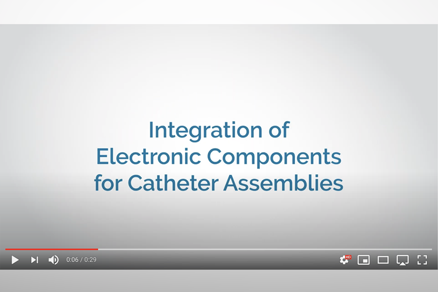 Watch this video to learn about our electronic integration for catheter assemblies
