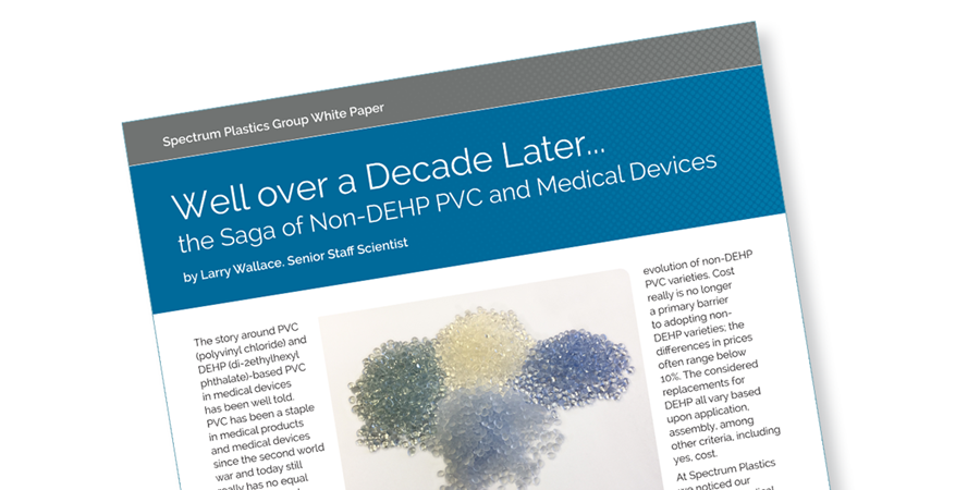 A white paper on the saga of non-DEHP PVC and medical devices