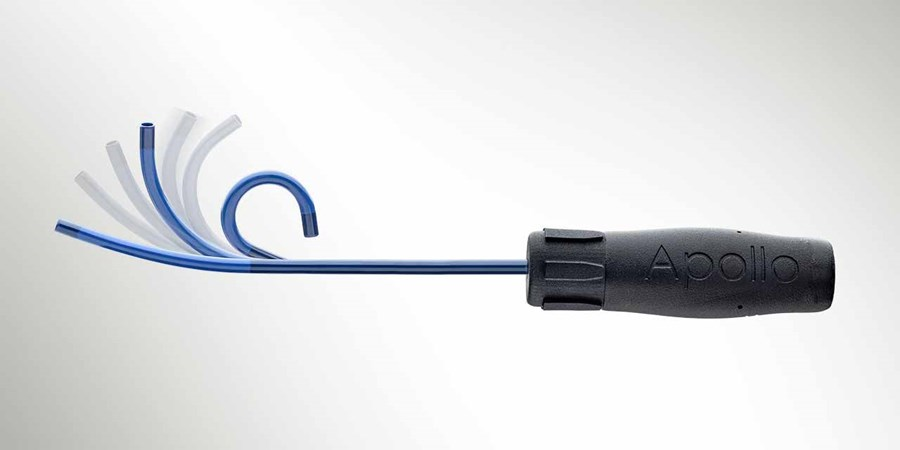 An image of a steerable catheter with handle